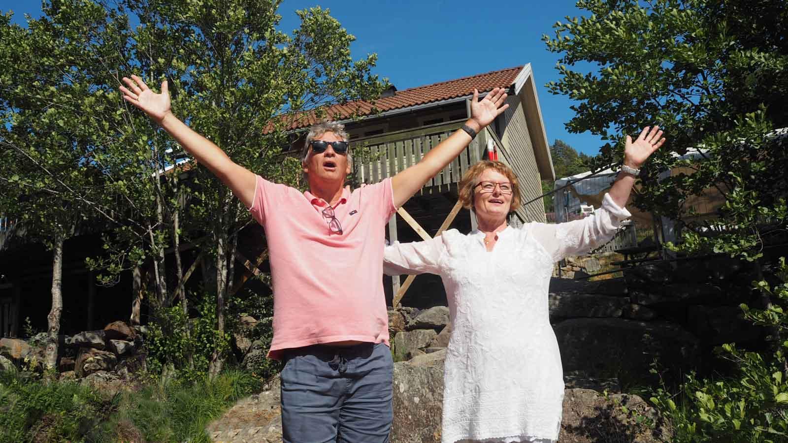 Rolf og Gladys i Sarons Dal 2018