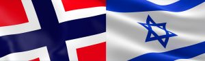 Israelsk flagg og norske flagg2_