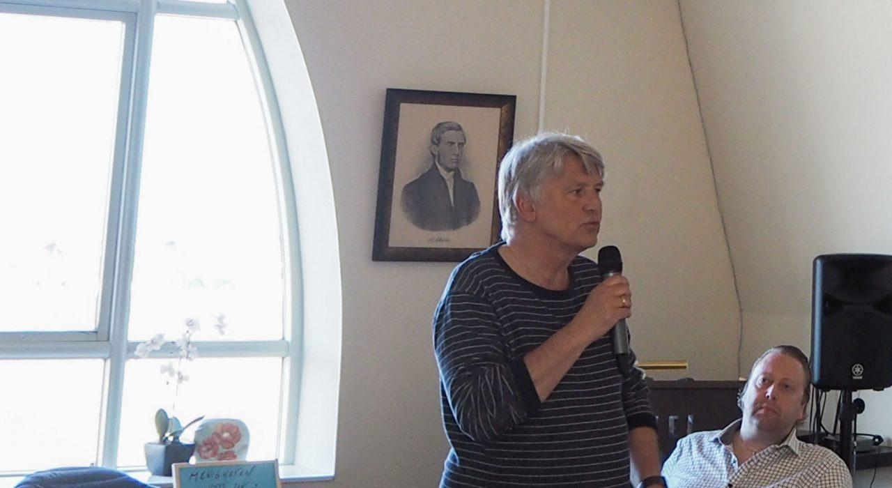 Rolf Aarstad ledet første møte på Jesus fest 8. mai 2020.