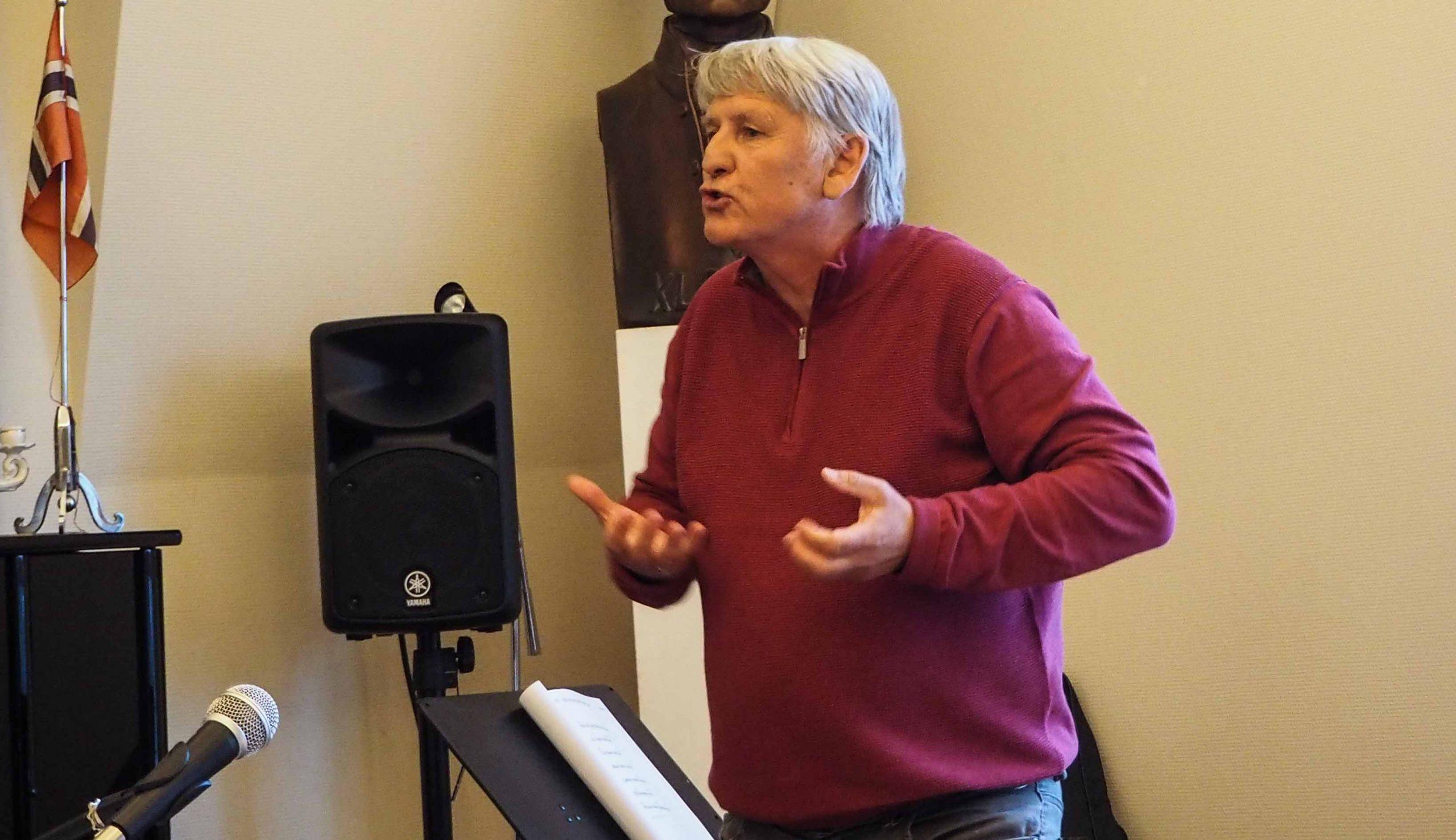 Jesus fest 9. mai 2020. Rolf Aarstad talte inspirerende om kraften i Den hellige ånd.