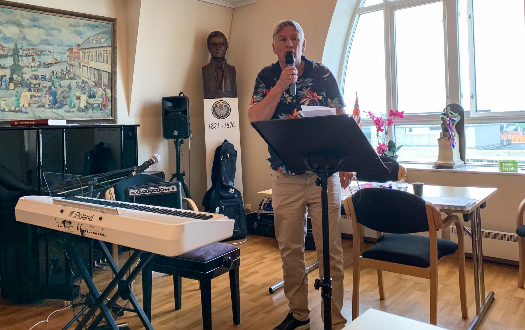 Jesus fest 13. juni 2020. Rolf Aarstad talte på lørdag.