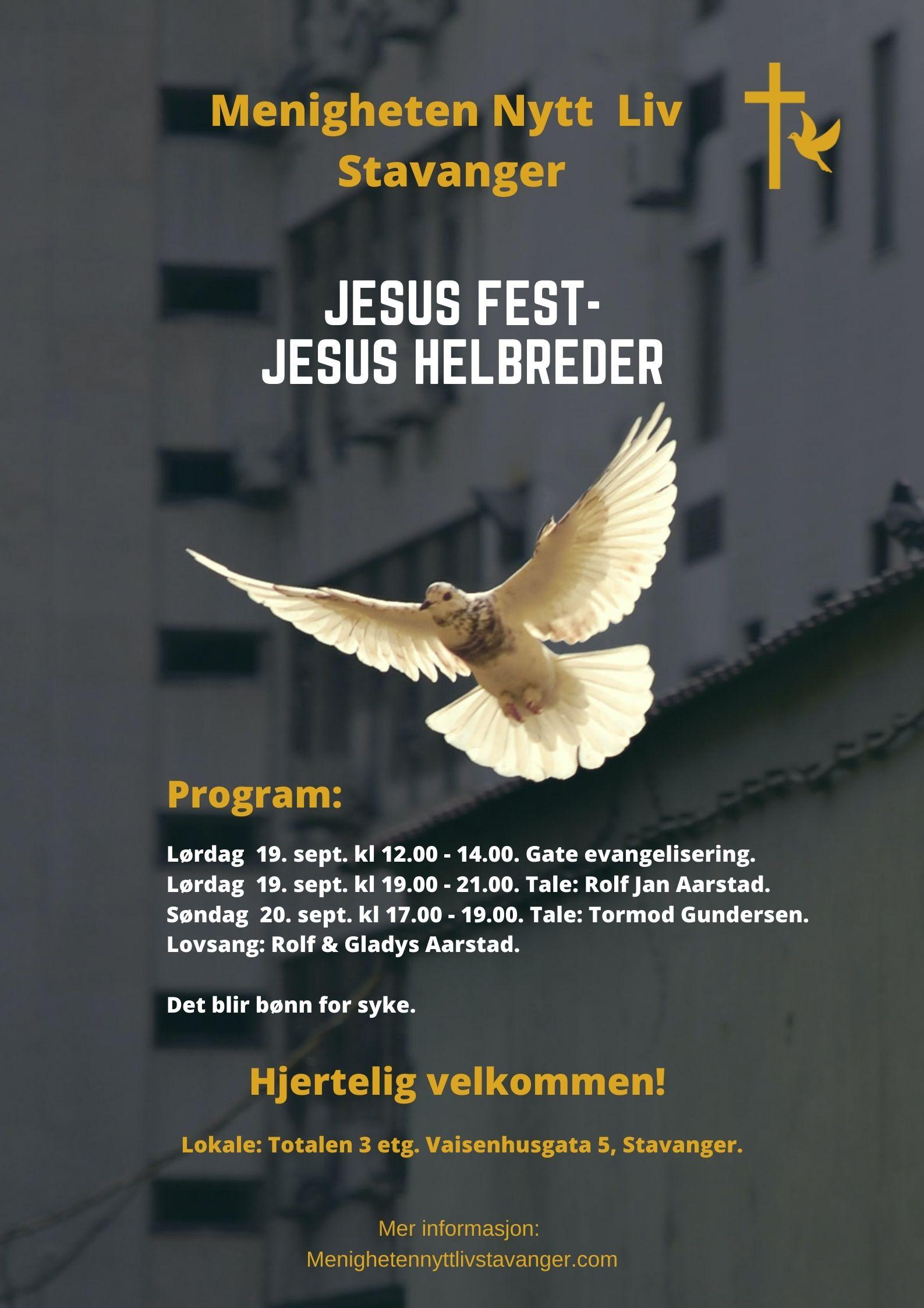 Plakat - Jesus fest - sept 2020